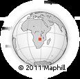 "Outline Map of the Area around 14° 56' 57"" S, 27° 16' 29"" E, rectangular outline"