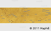 """Physical Panoramic Map of the area around 14°56'57""""S,27°16'29""""E"""