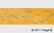 """Political Panoramic Map of the area around 14°56'57""""S,27°16'29""""E"""