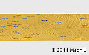 Physical Panoramic Map of Chicawnaconta