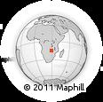 Outline Map of Chamuka, rectangular outline