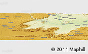 """Physical Panoramic Map of the area around 14°56'57""""S,28°58'30""""E"""