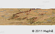 "Satellite Panoramic Map of the area around 14°56'57""S,28°58'30""E"