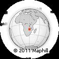 Outline Map of Rufunsa, rectangular outline
