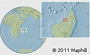 Savanna Style Location Map of Antsohihy, hill shading