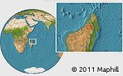 "Satellite Location Map of the area around 14°56'57""S,48°31'29""E"
