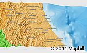 Political 3D Map of Antalaha