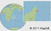 Savanna Style Location Map of Antalaha