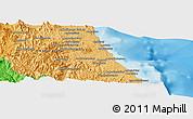 Political Panoramic Map of Antalaha