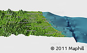 Satellite Panoramic Map of Antalaha