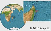 "Satellite Location Map of the area around 14°56'57""S,51°4'30""E"
