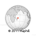 "Outline Map of the Area around 14° 56' 57"" S, 51° 4' 30"" E, rectangular outline"