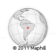 Outline Map of Barra Do Bugres, rectangular outline