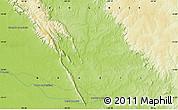 Physical Map of Pontes e Lacerda
