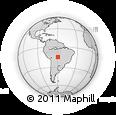 Outline Map of Pontes E Lacerda, rectangular outline