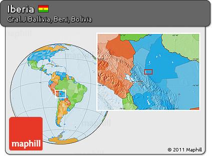 Iberia World Map.Free Political Location Map Of Iberia
