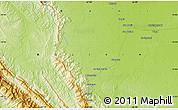 Physical Map of San Borja
