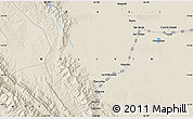 Shaded Relief Map of San Borja