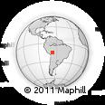 Outline Map of San Borja, rectangular outline