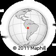 Outline Map of Bautista Saavedra, rectangular outline