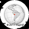 Outline Map of Putina, rectangular outline