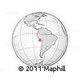 Outline Map of Nazca, rectangular outline