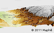 """Physical Panoramic Map of the area around 14°56'57""""S,74°43'29""""W"""