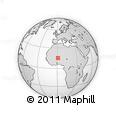 """Outline Map of the Area around 15° 17' 31"""" N, 0° 55' 29"""" E, rectangular outline"""
