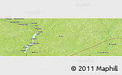"""Physical Panoramic Map of the area around 15°17'31""""N,0°55'29""""E"""