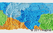 """Political 3D Map of the area around 15°17'31""""N,108°1'30""""E"""