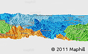 """Political Panoramic Map of the area around 15°17'31""""N,108°1'30""""E"""
