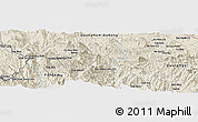 """Shaded Relief Panoramic Map of the area around 15°17'31""""N,108°1'30""""E"""