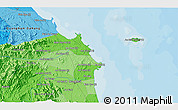 """Political 3D Map of the area around 15°17'31""""N,108°52'30""""E"""