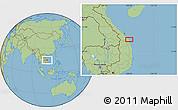"Savanna Style Location Map of the area around 15°17'31""N,108°52'30""E"