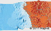 """Political 3D Map of the area around 15°17'31""""N,119°55'30""""E"""