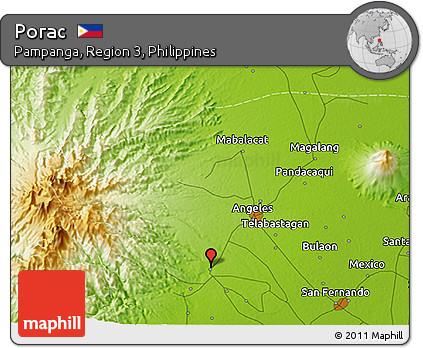 Free Physical D Map Of Porac - Porac map