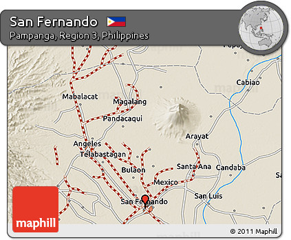 Free Shaded Relief 3D Map of San Fernando