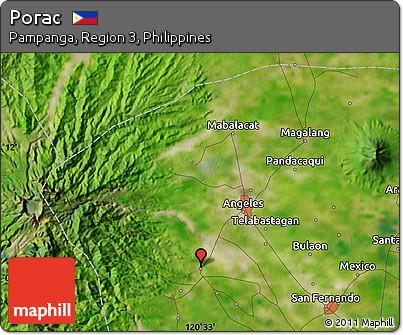 Free Satellite Map Of Porac - Porac map