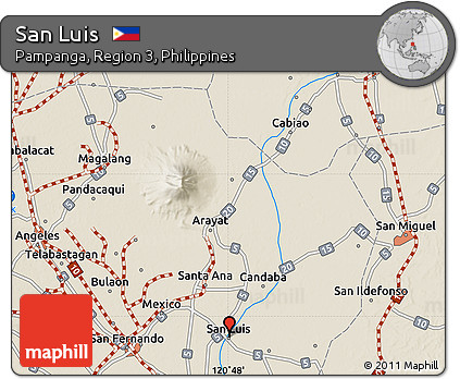 Shaded Relief Map of San Luis