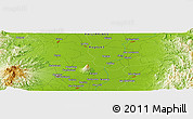 "Physical Panoramic Map of the area around 15° 17' 31"" N, 120° 46' 30"" E"