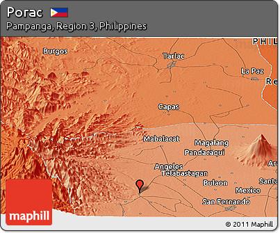 Free Political Panoramic Map Of Porac - Porac map