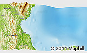 """Physical 3D Map of the area around 15°17'31""""N,121°37'30""""E"""