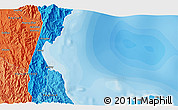 """Political 3D Map of the area around 15°17'31""""N,121°37'30""""E"""