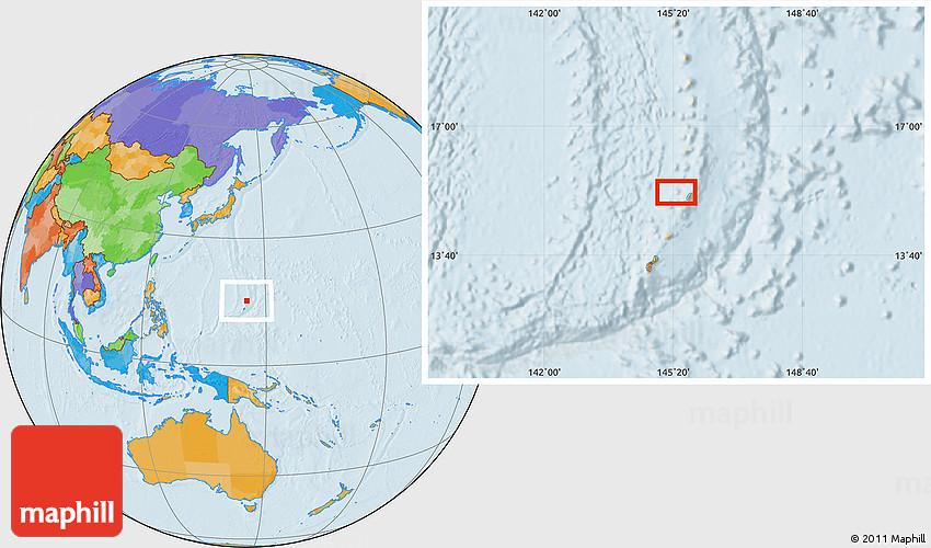 Political Location Map of Gualo Rai
