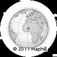 Outline Map of Tongo Tongo, rectangular outline