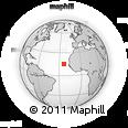 Outline Map of Assomada, rectangular outline