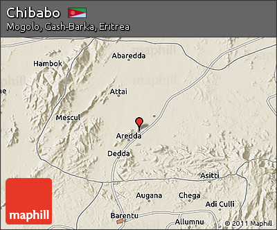 Shaded Relief 3D Map of Chibabo