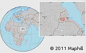 Gray Location Map of Augana