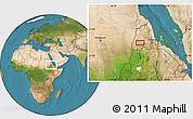 Satellite Location Map of Augana