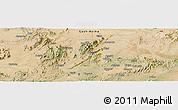 Satellite Panoramic Map of Barentu